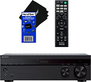 Sony Bluetooth Connectivity 2 Channel Stereo Receiver with Turntable Input, 4 Audio..