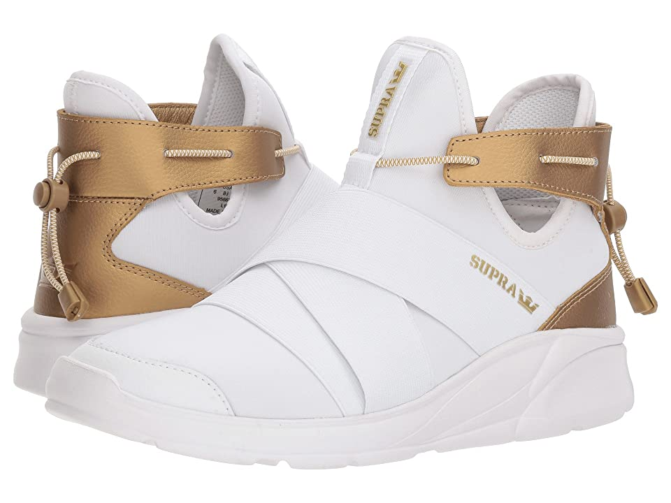 Supra Anevay (White/Gold/White) Women