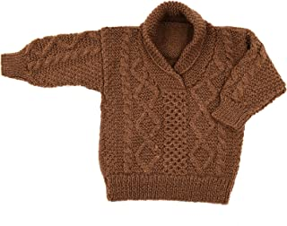 Magic Needles Handmade Knit Baby Boys Infant Newborn Winter Woolen Full Sleeves Sleeveless Sweater Pullover Cardigan