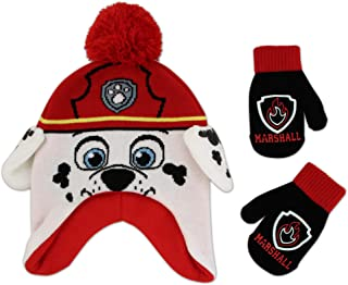 Nickelodeon Boys' Toddler Paw Patrol Character Scandi Hat and Mittens Set