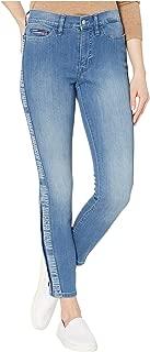Tommy Hilfiger Women's Adaptive Jegging Knit Jean Legging with Magnetic Closure at Outside Hem, Light wash, Multi