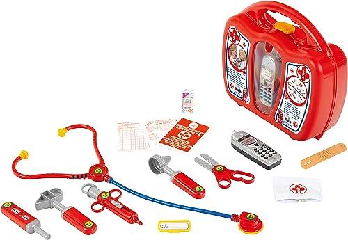 Klein 4350 Mallette docteur avec téléphone portable électronique | Avec stéthoscope, seringue et beaucoup d'autres ac...