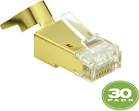 Mediabridge Cat7 Connector (Gold Shielded) - RJ45 Plug for Cat7 Ethernet Cable - 8P8C 50UM - 30 Pack (Part# 51P-C7-30PK)