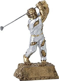 Decade Awards Golf Monster Trophy | Beast on The Green Award | 6.75 Inch Tall - Free Engraved Plate on Request