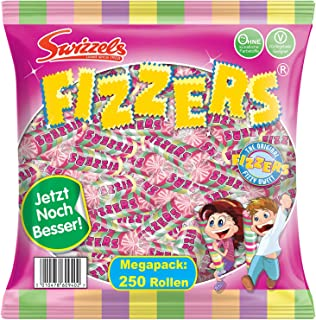 Swizzels Fizzers Hard Candy - MADE IN THE UK - 740 g / 250 rolls