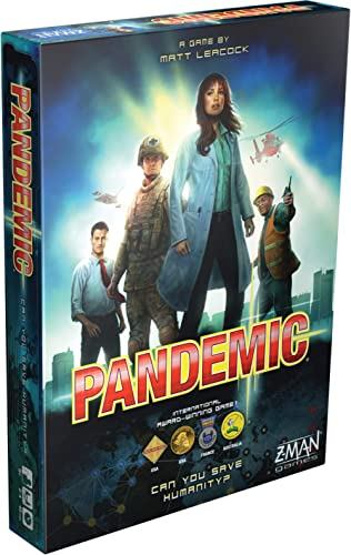 Z-Man Games Pandemic Board Game ‐ English Edition, Multi/colored