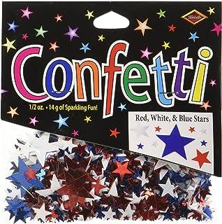 Beistle CN135 Stars Confetti, Red/White/Blue