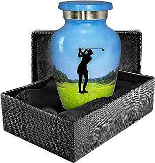 Trupoint Memorials The19th Hole Womens Golf Small Keepsake Urn - Qnty 1 - A Warm and Caring Small Golf Themed Keepsake Sha...