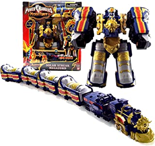 Bandai Year 2006 Power Rangers Mystic Force 10 Inch Tall Electronic Zord Action Figure - SOLAR STREAK MEGAZORD with Lights and Sounds, 2 Modes to Play (Zord Mode and Train Mode) Plus Exclusive Poster