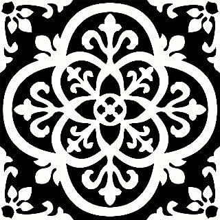 FloorPops FP2475 Gothic Peel & Stick Tiles Floor Decal, Black