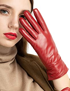 Best Super-soft Leather Winter Gloves for Women Full-Hand Touchscreen Warm Cashmere Lined Perfect Appearance Review