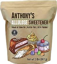 Anthony's Allulose Sweetener, 2 lb, Batch Tested Gluten Free, Keto Friendly Sugar Alternative, Zero Net Carb, Low Calorie