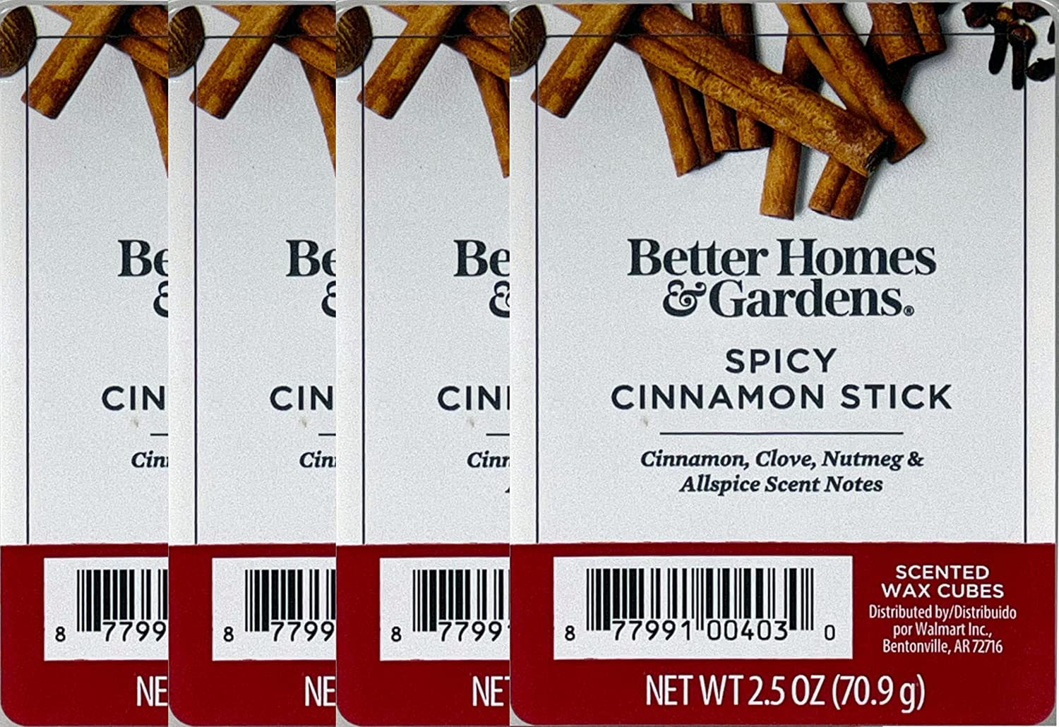 Better Homes and Gardens Spicy Cinnamon Stick Scented Wax Cubes (4 Pack)