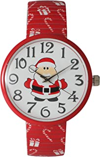 Christmas Stretch Watch with Special Design on Band