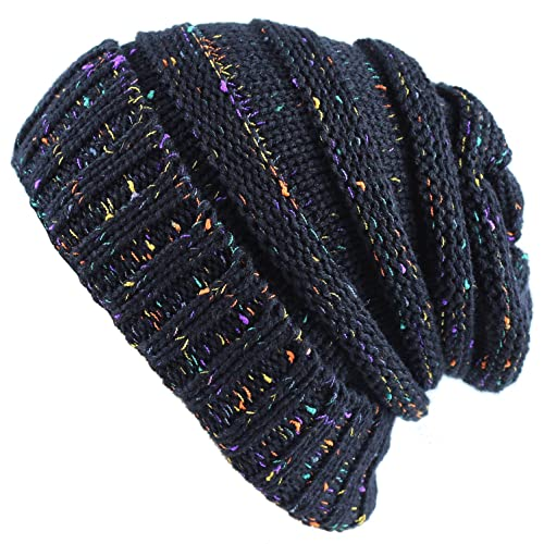 f55a62474c2 Cable Knit Beanie Slouchy Hats Crochet Wooly Winter Cap Thick