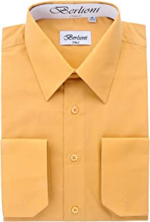 Men's Dress Shirt -Convertible French Cuffs -Huge Color Selection