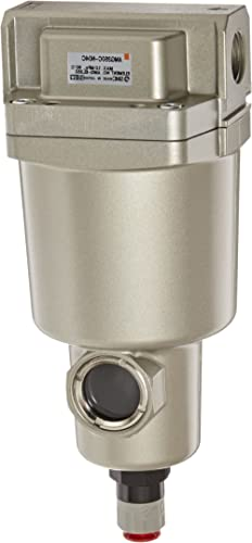 "SMC AMG350C-N04C Water Separator, N.C. Auto Drain, 1,500 L/min, 1/2"" NPT"
