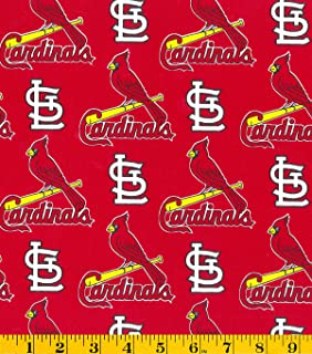 Country Snuggles St Louis Cardinals Fabric by The Yard (Full Yard)