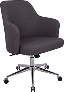 AmazonBasics Classic Adjustable Office Desk Chair - Twill Fabric, Charcoal, BIFMA Certified
