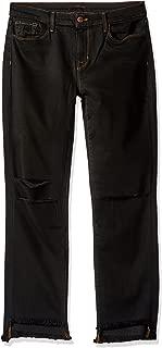 J brand Jeans Womens JB000282 Mid Rise Straight Crop Hem Jean Jeans - Black