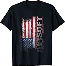 USA Flag Airsoft T-Shirt Shooting Sports Game Gift