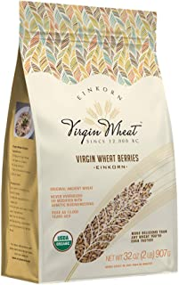2 lb Ancient Einkorn Wheat Berries Unchanged For 12,000 Years Great For Gluten Issues & Easy As Rice To Cook   Ancient Her...