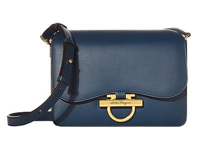 Salvatore Ferragamo Joanne Crossbody (Mezcal Teal) Handbags