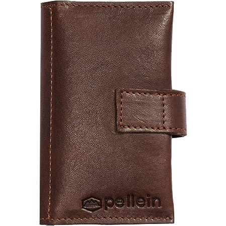 Porta tabacco Leggendario Wood in vera pelle cuoio - Tascabile - Fatto a mano in Italia - Pellein
