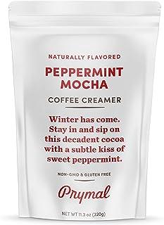 PRYMAL Peppermint Mocha Coffee Creamer - Keto, Non Dairy, Sugar Free - 100% Natural, Non Refrigerated Powder with MCT - 11...