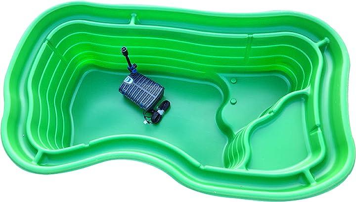 Laghetto da giardino grande kit mod. maggiore + filtro interno gda uvc 6000 stagno artificiale pompa inclusa B091V5LM5X