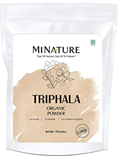 mi nature Organic USDA Certified Triphala Powder Powerfully Supports Healthy Digestion and Promotes Absorption. Balancing ...
