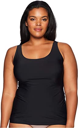 Plus Size 6-in-1 Shaping Tank Top w/ Bonded Construction