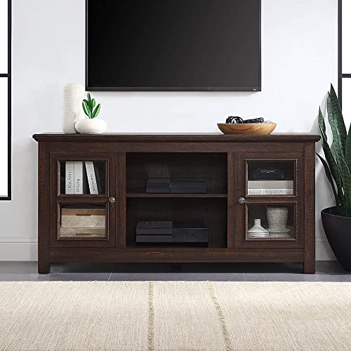 discount BELLEZE Modern Farmhouse Wood TV Stand & Media Entertainment new arrival Center sale Console Table for TVs up to 55 Inch with Open Storage Shelves & Cabinets - Kenton (Espresso) online sale
