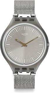 Swatch Unisex Digital Quartz Watch with Stainless Steel Bracelet – SVOM100M