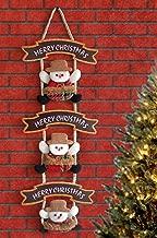 TIED RIBBONS Christmas Xmas Decorations for Wall Door Santa Design Wall Hanging