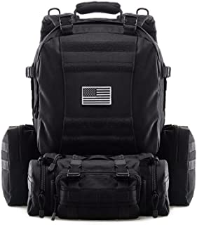 Tactical Backpack Military Outdoor 3-Day Assault Pack 60L Survival Rucksack 1000D Army Molle Bag Perfect for Hiking Trekking Travelling and Hunting