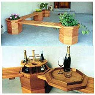 Woodworking Project Paper Plan to Build Octagonter Benches