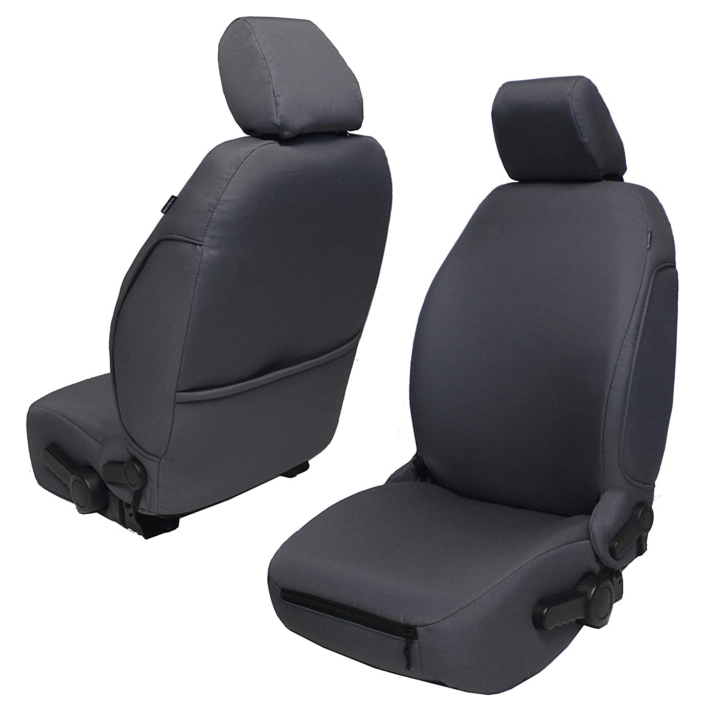 Bartact JKBC0710FP - 2007-2010 Jeep Wrangler JK and JKU Baseline Performance Front Seat Covers (Pair) (Black)
