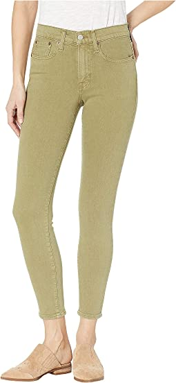 Veronica Cropped Skinny Jeans in Military Sage