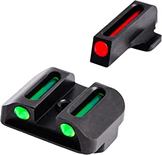 TRUGLO Fiber-Optic Front and Rear Handgun Sights for Springfield XD, XDM (excluding 5.25