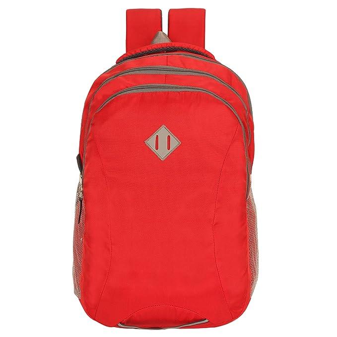 Sassie 31 LTR Waterproof Backpack  Red