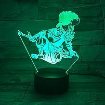 3D nachtlampje League of Legends Yasuo model optische illusie tafellamp LED touch afstandsbediening 7 kleuren voor kindere...