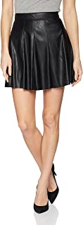 Women's Faux Leather Skirt