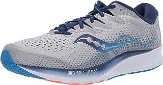 Saucony Men's Ride ISO 2 Running Shoe,  Grey/Blue,  9 W US