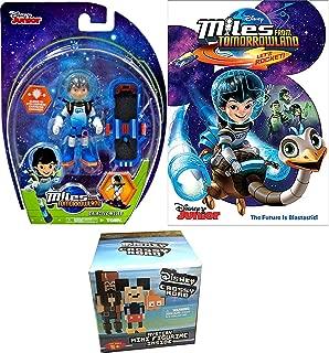 Galactic Miles from Tomorrowland Figure Hot Space Let's Rocket Cartoon + Pipp Figure & Galactic Miles Disney Figure & Blast Board + Bonus Mini Crossy Roads Figure Bundle