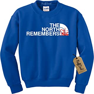 df17d895f6e6da NuffSaid The North Remembers GOT Thrones Crewneck Sweatshirt Sweater -  Unisex