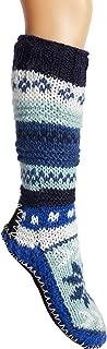 Hand Knit Wool Fleece Lined Long Slipper Socks | Tibetan Socks