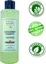 Khadi Mauri Herbal Coconut Shampoo - SLES & PARABEN FREE - Nourished & Silky Hair - 210 ml - Enriched with Amla