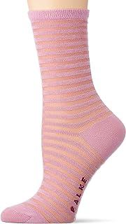 FALKE Socken Flash Rib Baumwolle Damen schwarz weiß viele weitere Farben verstärkte Damensocken mit Muster atmungsaktiv gestreift und dünn 1 Paar