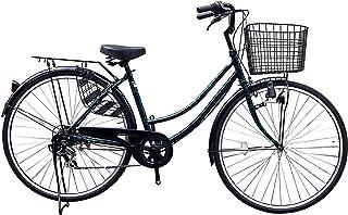 Lupinusルピナス 自転車 27インチ LP-276UD 軽快車 ダイナモライト シマノ製外装6段ギア 荷台付 100%完成車